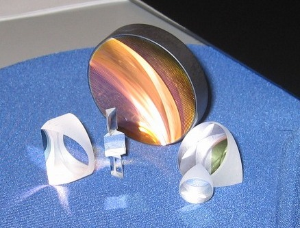 Fused Silica Concave Mirror and Porro Prisms